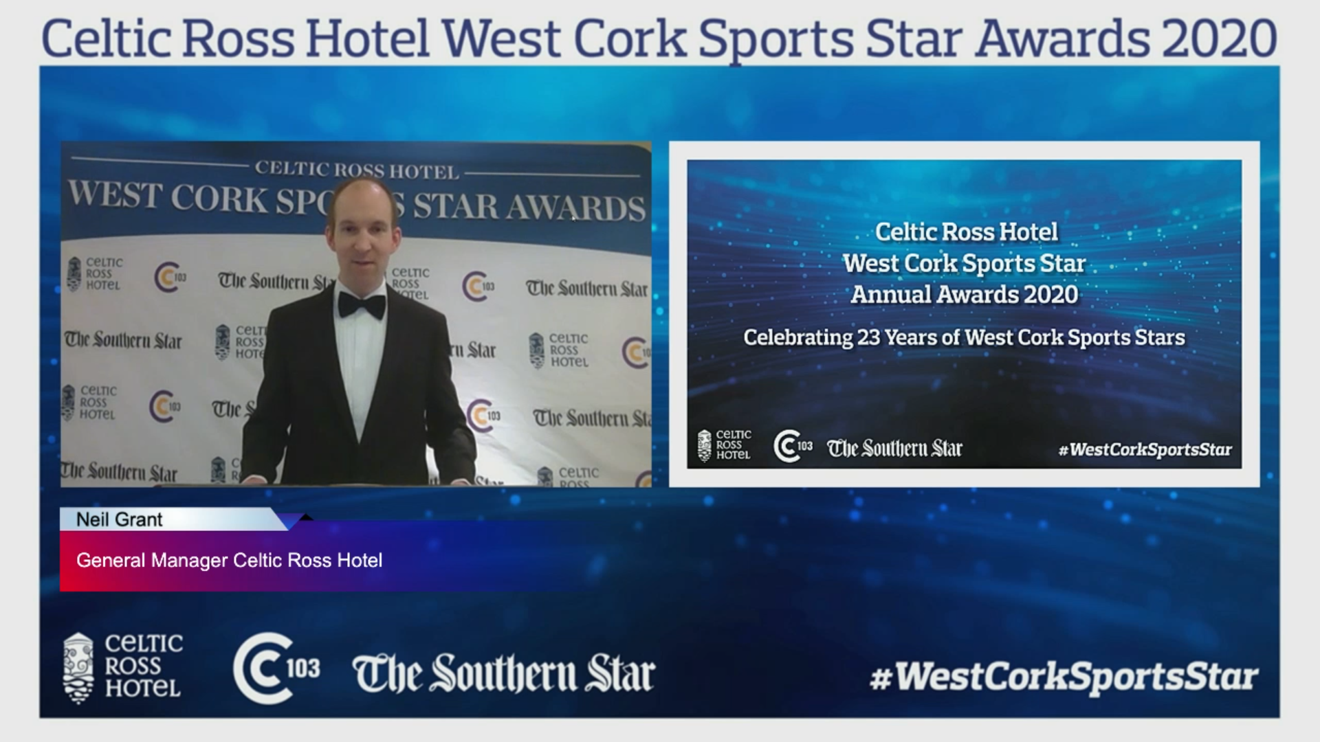 Neil Grant from The Celtic Ross Online Sports Award - West Cork